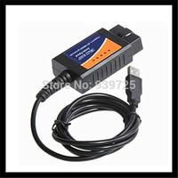 Drop shipping Wholesales OBD2/OBDII scanner ELM 327 car diagnostic tool interface scanner ELM327 USB