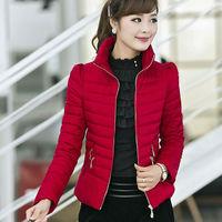 2014 New Fashion Korean Style Women Autumn Stripe Pleated Slim Warm Coat Red OverCoat Yellow Outerwear Winter Down Jacket nz196
