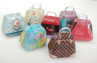 2014 New Iland Fashion Metal Handbag Trunk Box for 1/6 BJD J-Doll Pullip ken Dolls 7 PCS