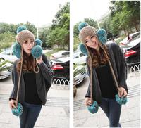 HOT sale Hand-knit wool cap hat oversized Sphere Ms. personality warm winter hat cap