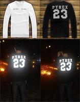 2014 Autumn winter women/men pyrex 23 sweatshirt hip hop street classic letter male o-neck long-sleeve sweater HBA Hoodies