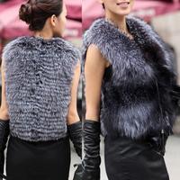 Luxury Ladies Women Cardigan Faux Fur Wraps Warm Vest Waist Coats Jacket Overcoat Outerwear S/M/L/XL/XXL