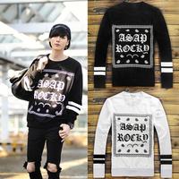 Autumn Winter Women/Men asap rocky hoodies Paisley print KTZ bandana Sweatshirt HIPHOP Sweater pullovers Tobs sport streetwear