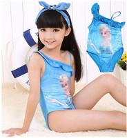 2014 new arrived hot Frozen kids swimwear/Popular girls swimming costume/Good quality summer children's clothes