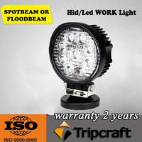 4'' Round 27W LED Work Lights For Truck 4X4 Accessories Off Road LED Light Spotlight 12V 24V Car SUV ATV Led Tractor Work Light