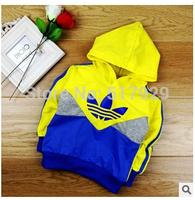 children hoodies baby suit 2014 autumn sport girl boy children coat brand cotton hooded sweater baby Outerwear Sweatshirts polo