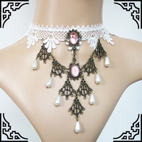Bohemia Gothic retro white lace female cervical clavicular Long Necklace Dickie priced mixed batch GY006