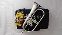 American Bach flugelhorn silver-plated FL-100 B flat Bb professional trumpet Top musical instruments Brass