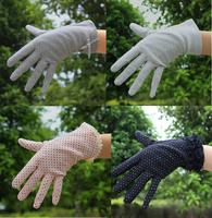 Wholesale 2014 Summer New Women's Lace cotton UV Sunscreen Glove Drive Slip a thin gloves