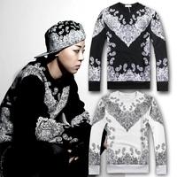 2014 Autumn winter women/men pyrex Paisley Bandana sweatshirt hip hop street male o-neck long-sleeve sweater Hoodies sportsuit
