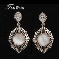 Orecchini Women Opal18k Gold Plated Dangle Earrings Rhinestone Hollow Out Earing Bridal Jewelry Fashion New 2014 Brincos