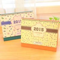 New 2015 Floral calendar / cute little fresh almanac / 2015 calendar   17779    0.33kg