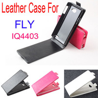 Natural Leather protection case For Fly IQ4403 Energie 3 mobile phone Cover for fly 4403 case 3 Colors free shipping