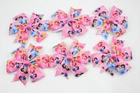 2014 New baby Princess pink hair bow cinderella hair bow bell hair bow princess hair accessories 10pcs/lot