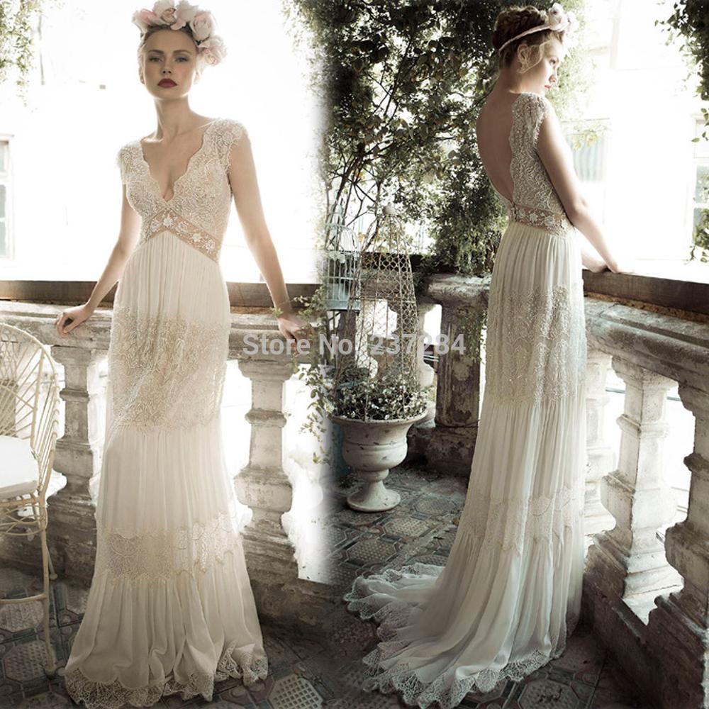 wedding dresses, boho wedding dress, Bohemian Wedding Dresses | Hippie ...