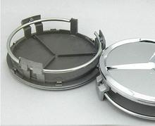 "2x 75mm 3"" wheel center hub caps for C E S CL ML SL SLK CLK CLASS W202 W204 W205 W210 W211 W212 W220 W221 W222 75mm centre cap (China (Mainland))"