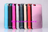 For iphone6 Case Motomo Metal Brushed Chrome back Case Cover For iPhone Air 6 Plus 5.5 4.7 inch 20pcs