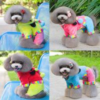 Sweet Pet Dog Fleece Clothes Apparel Bear Stripe Hoody Coat Pajamas Clothing