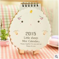 New 2015 lamb lovely shape Desktop 2015 calendar    18085   0.03kg