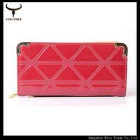 long carteira women clutch candy color PU multi card Korean style plaid pattern women wallets womens free shipping HS08