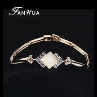 New Bracelets Female Rose Gold Pulseiras Braceletes Bangles 18KGP Jewelry Pulseras Mujer for Women Wholesale
