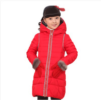 New 2014 Children's  Down Jackets For Girls Casual Children Outerwear For Winter