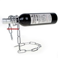 free shipping 80pcs/lot Floating Magic Chain Wine Bottle Holder Alcohol Champagne Illusion Rack Stand