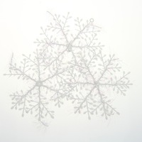 90pcs/lot White Snowflake Christmas Tree Decorations Accessories, Indoor Outdoor Christmas Xmas Ornaments Accessories