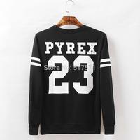 Men/women PYREX  23 Star  Sweatshirt Jumper Black hiphop BigBang GD Hoody Sweater