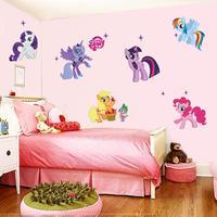 Hot My Little Pony children's room bedroom wall stickers Wall Decal Kindergarten DIY Art Vinyl Wall Stickers Decor Mural