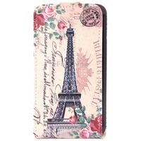 Eiffel Tower Pattern Vertical Flip Leather Case for LG L70 Dual D325
