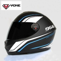 2014 NEW 100% Original High Quality YOHE Eternal full face helmet motorcycle winter helmets with DOT ECE YH966