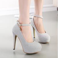 women sexy high heels shoes female PU platform pumps round toe fashion wedding shoes sy-690