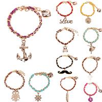 2014 hot sell fashion girl charm bracelet