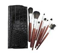 Fashion 8pcs makeup set brown color makeup brushes professional maquiagem ornament with Facial Eyes set of makeup tools