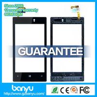 (Banyu free shipping)  Guangzhou shop supply high quality black digitizer for nokia lumia 520 touch screen