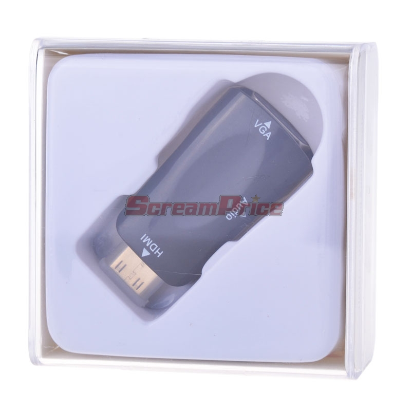 Bare Copper Wire MINI HDMI Male Connector To VGA Female Connector With Audio Converter Adapter(China (Mainland))