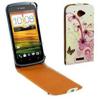 Fashion Pattern Vertical Flip Leather Case for HTC One S Z520e Convenient Durable