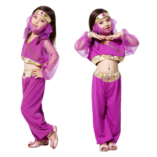 D0151 Halloween Cosplay costume children stage performance clothing The Arab princess dress Naruto suit female(China (Mainland))