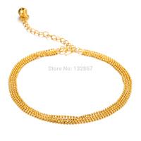 n729 Brand New 18k Gold Plated Anklet or Bracelet Extended chain For LOLI Girls Birthday