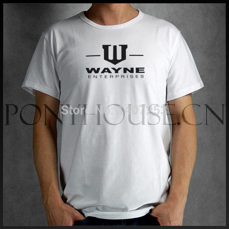 BATMAN WAYNE ENTERPRISES LOGO T-shirt Summer 2014 Famous Brand Tshirt(China (Mainland))