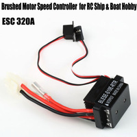 High Quality 6-12V Brushed Motor Speed Controller ESC 320A for RC Ship and Boat R/C Hobby Free Shipping