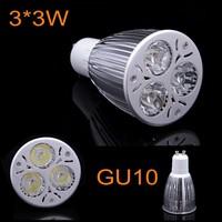 10X High Quality 9W GU10 LED Spotlights Cold/Warm white AC85-265V LED Bulb Lamp Brightness