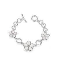 ROXI christmas gift  top swiss zircon Crystals luxury platinum Bracelets for women flower charm bracelet gold bracelet