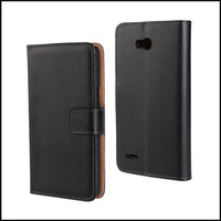 Genuine Wallet Leather Case Cover for LG L80 Single Card Phone Case Cover with Card & Slot + 100 pcs / lot