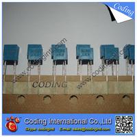 100pcs/lot bule color Capacitor 222J 2.2nF 100V  222J/100V P=5mm Correction Capacitor
