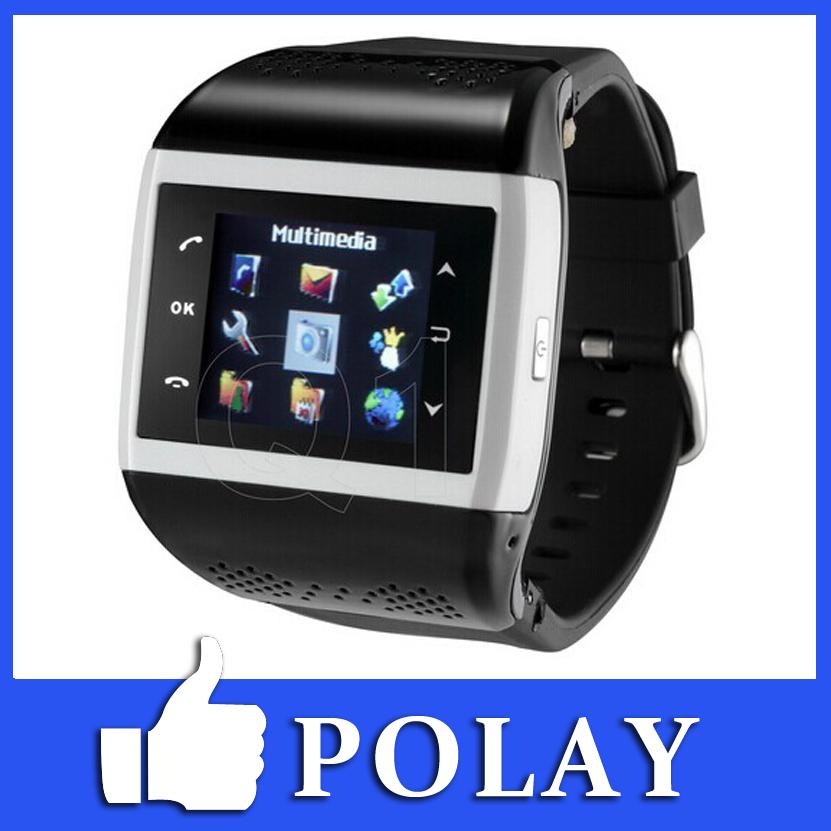 Smart Quadband Q1 Wrist Watch Cell Phone Mobile 1.4 Touch Screen Camera Compass Bluetooth FM E-book MP3 MP4 MSM Clock Russian(China (Mainland))