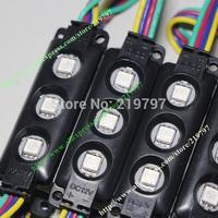 LED RGB module injection 5050 3leds ABS plastic IP65 DC12V 140degree For Blister luminous words logo signs 40pcs +Free ship