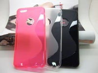 300pcs/lot&Free Shipping New S Line TPU back case For iPhone 6 Plus 5.5 inch