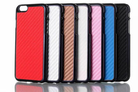 Carbon Fibre fiber Chrome Plated Hard Case Cover Shell for iPhone 6 4.7 inch Free Shipping 100pcs/lot